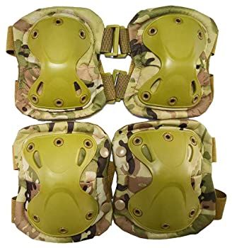 Outdoor Sports Tactical Combat Knee & Elbow Protective Pads Skate Knee Pads