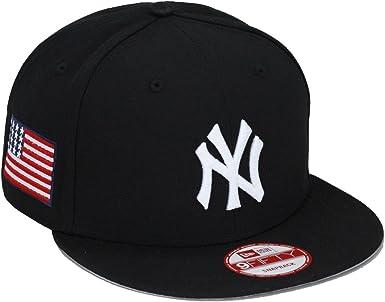 New Era York Yankees Gorra Cap Negro/diseño de Bandera de Estados ...