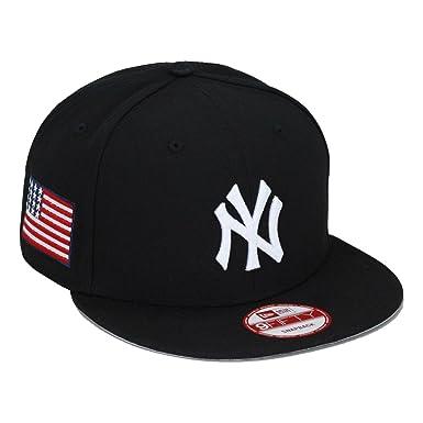 9cb6c3ac75f New Era New York Yankees Snapback Hat Cap Black USA Flag MLB olympic   Amazon.co.uk  Clothing