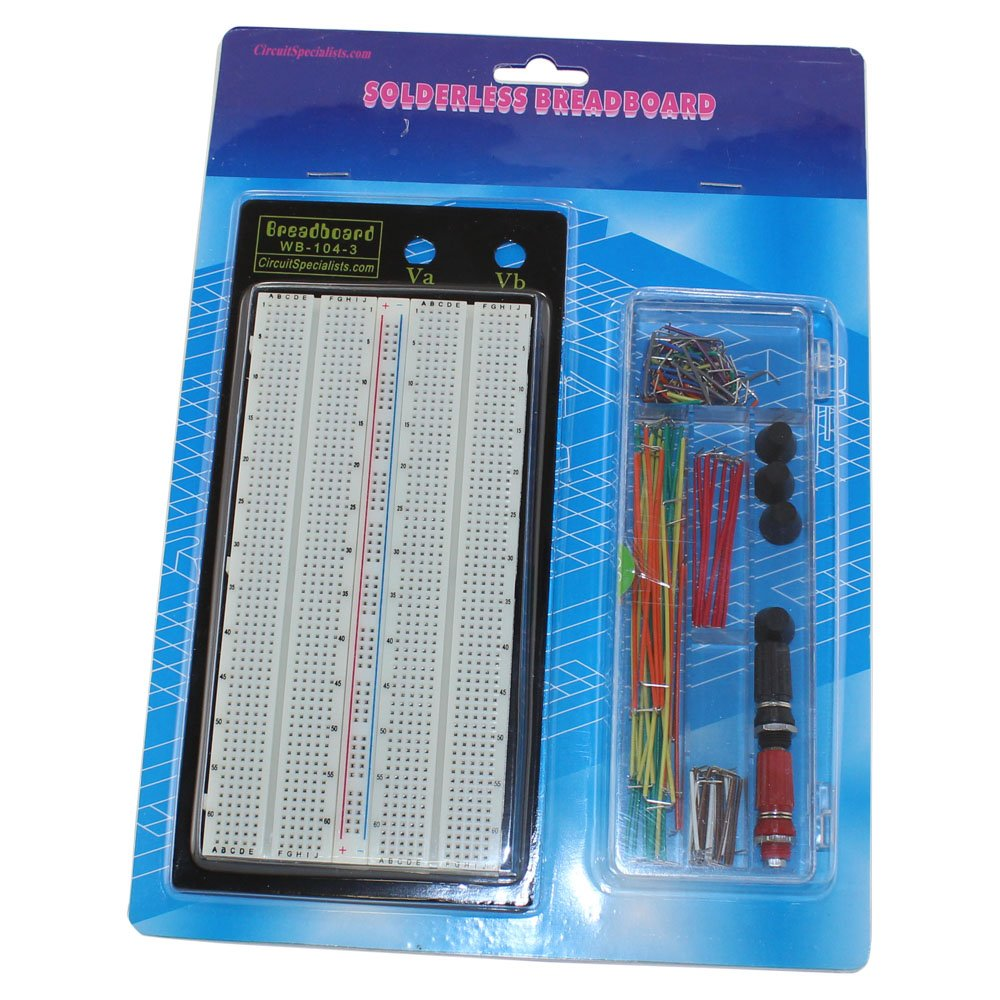 Solderless Breadboard With Jumpers Wb 104 3 J Home 400 Tie Points And Matching Pcb Improvement