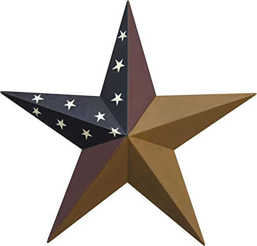 CWI Gifts 24 Colonial Barn Star Wall D cor, Multi