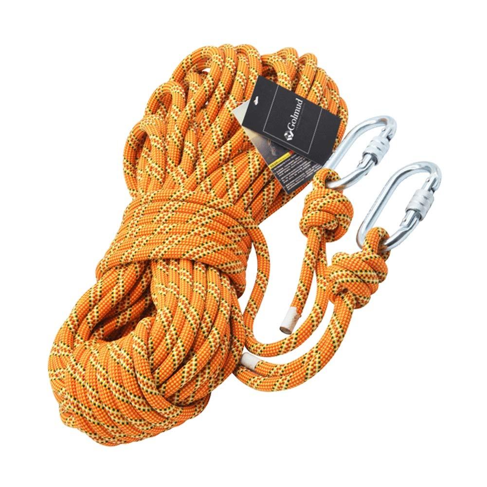 屋外ロッククライミングロープ、電源火災ロープエスケープ安全サバイバルロープ登山救助ハイキングロープ11ミリメートルナイロンユーティリティロープ,Yellow,40m 40m Yellow B07R4TFGVQ