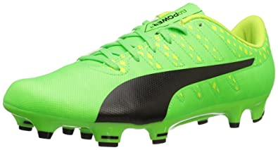 62d19b4cffb4 PUMA Men s Evopower Vigor 4 FG Soccer Shoe Green Gecko Black-Safety Yellow