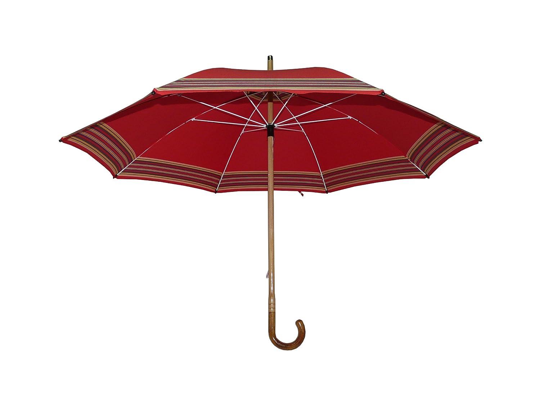 Art 0133 parapluie artisanal, toile coton extra, structure en bois, cm 72/8. Made in Italy. Couleur berger rouge