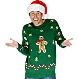 Morph Men's Digital Dudz Gingerbread Snack Ugly Christmas Sweater