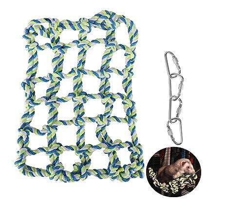 Hamster Climbling - Hamaca colgante de cuerda de algodón, niCwhite ...