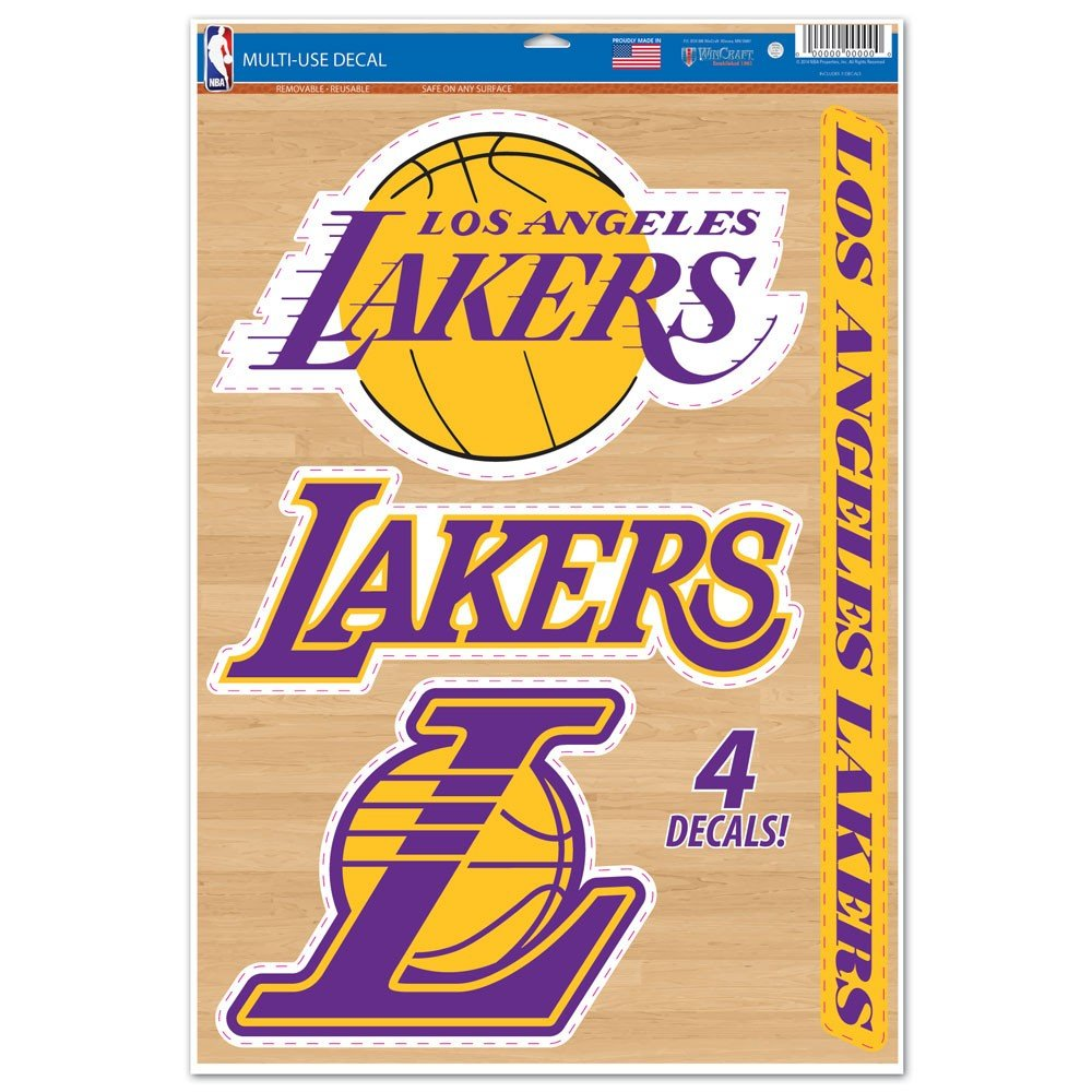 NBA Los Angeles Lakers WCR42574014 Multi-Use Decal, 11'' x 17''