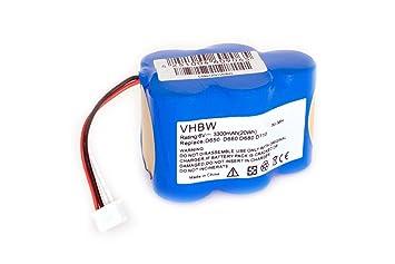 vhbw Batería Ni-MH 3300mAh (6V) para aspirador Hoover Robot RVC0010, RVC0010, RVC0011, RVC0011-001 como 945-0006, 945-0024, LP43SC3300P5.: Amazon.es: Hogar