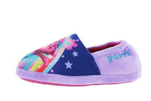 174702dea Dreamworks Girls Trolls Poppy Purple Elasticated Slipper UK Child Size 9