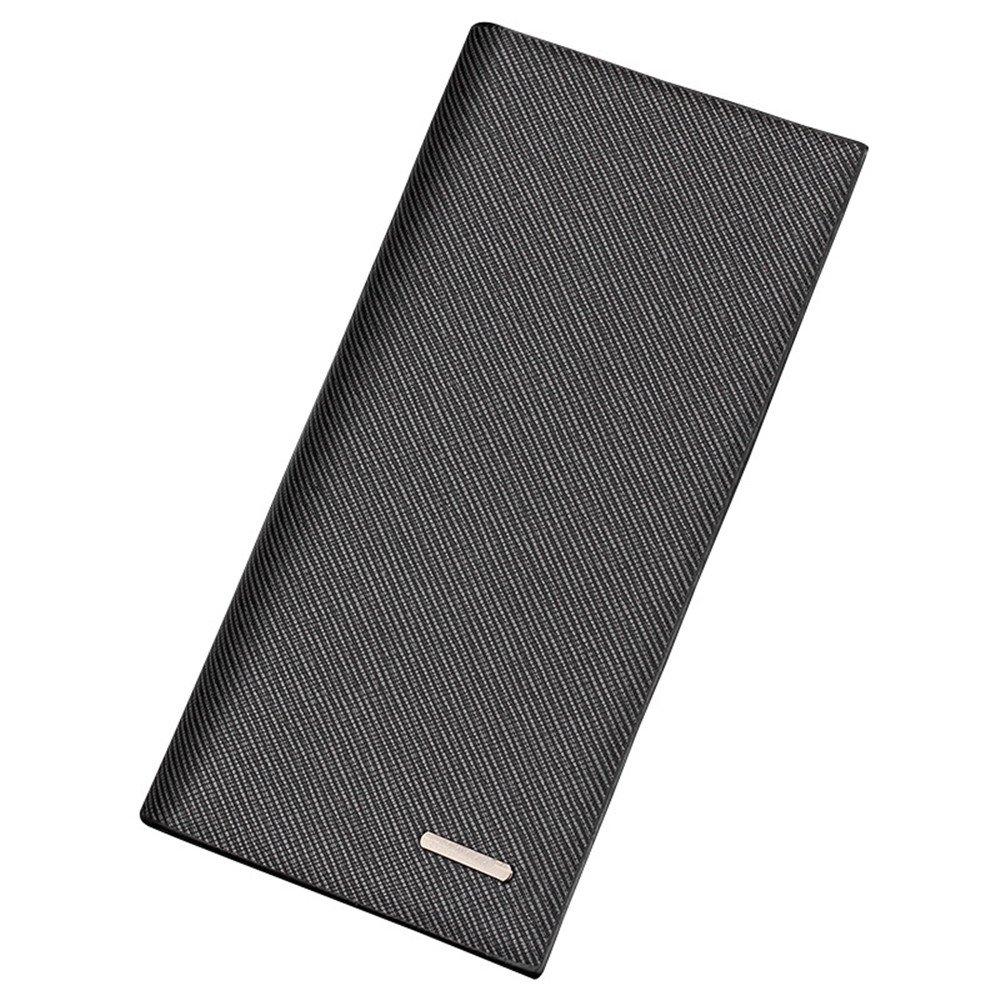 Men's Long Bifold Leather Wallet Ultrathin