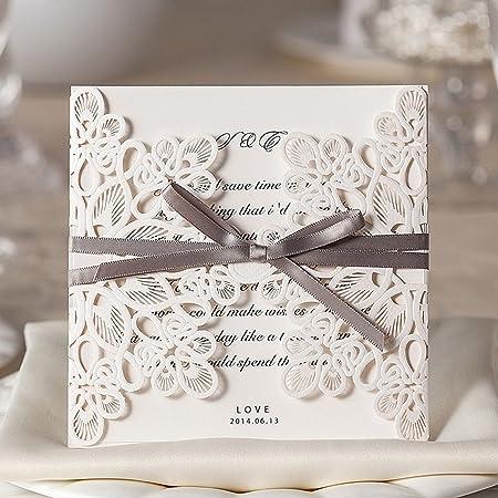Wishmade 50 Elegante En Blanco Para Imprimir Tarjetas De