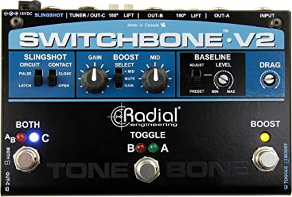 Radial Engineering Bones Twin City ABY Amp Switcher Pedal NEW Free 2DAY SHIPPING