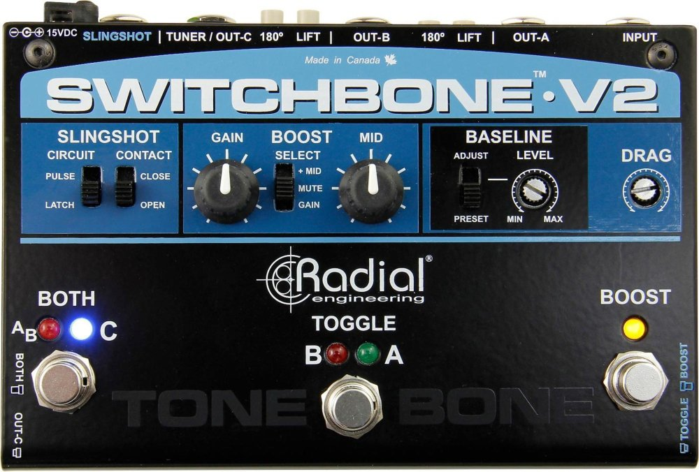 Radial Switchbone V2 ABY/C Amp Selector and Booster by Radial