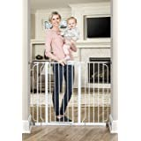 Regalo 37-Inch Extra Tall and 49-Inch Wide Walk Thru Baby Gate, Includes 4-Inch and 12-inch Extension Kit,( 4 count of Pressu