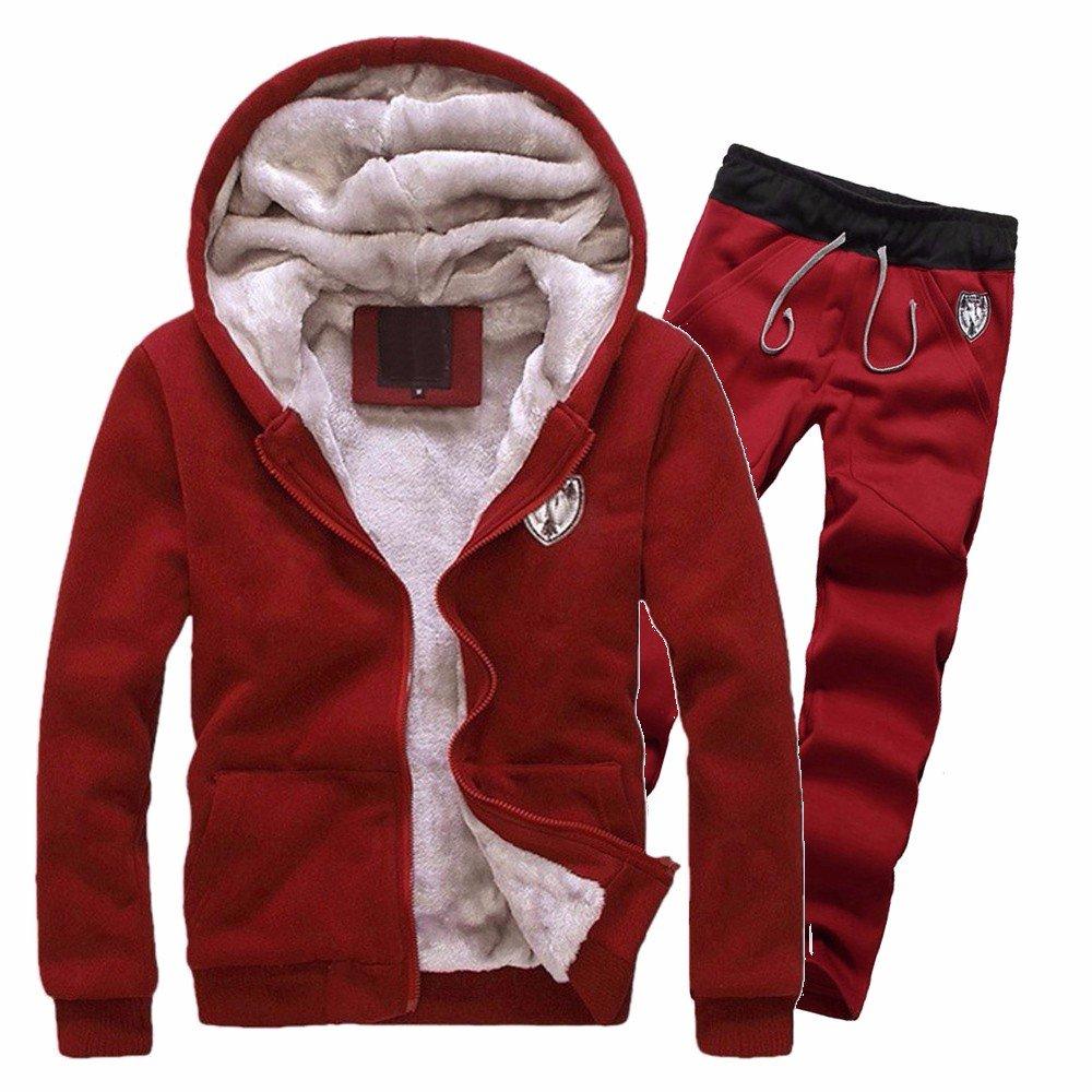 超高品質で人気の Hattfart Hooded Hooded Sweatshirt SWEATER メンズ Large Hattfart レッド レッド B07J2LDHJ3, 犬のグッズ専門店 犬のテール:3d526a8a --- staging.aidandore.com