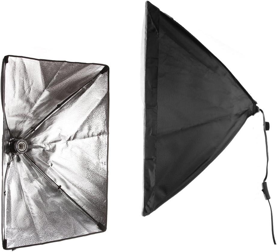 Run Shuangyu 2x Photography Photo Video Studio 26X18Softbox Lighting Kit For E27 Light Bulb