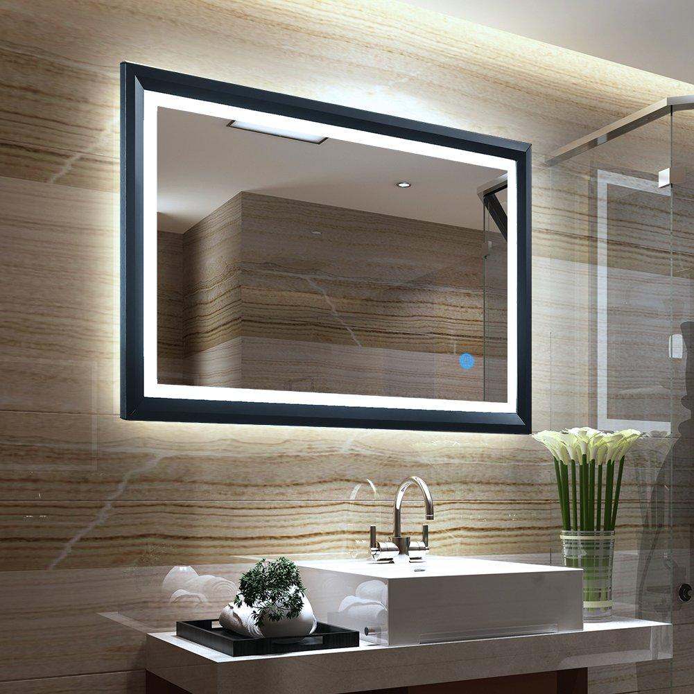 Tonffi 25W Lampe De Miroir 80x60CM LED Blanc Froid 6000K Pour Salle