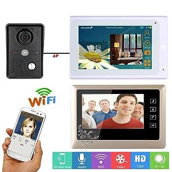 GAMWATER 7 inch 2 Monitors Wired /Wireless Wifi Video Door Phone Doorbell Intercom System with  sc 1 st  Amazon.com & Amazon.com: GAMWATER 7 inch 2 Monitors Wired /Wireless Wifi Video ...