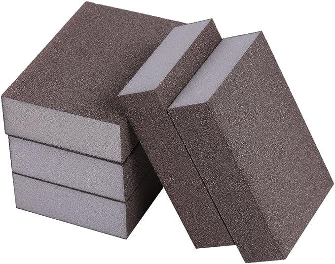 Fine numero120 5Pz Levigatura Spugna Lucidatura Abrasivo Tampone di Blocco Carta Vetrata Abrasivo Strumento 7 /× 10 /× 2,5 cm 400-600 #
