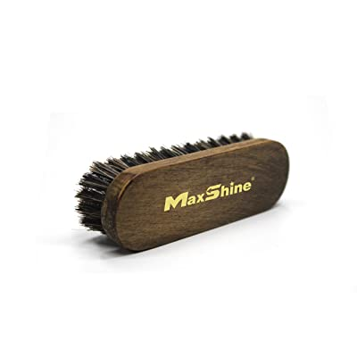 Maxshine Natural Fine Horse Hair Soft Cleaning Brush for Car Detailing Carpet Upholstery (Small): Automotive