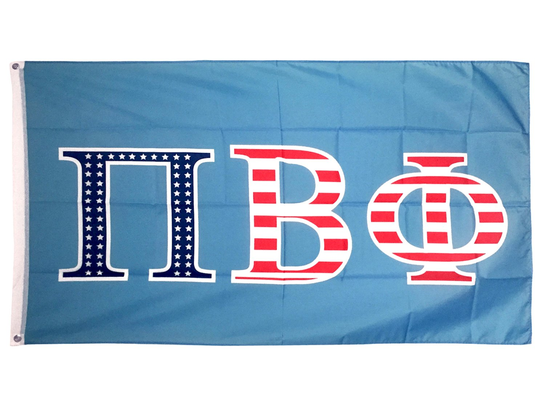 Pi Beta Phi USA Letter Sorority Flag Greek Letter Use as a Banner Large 3 x 5 Feet Sign Decor Pi Phi by Desert Cactus
