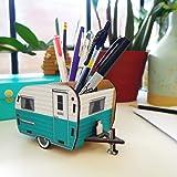 Fred Happy Camper - Vintage Camper Pencil Holder