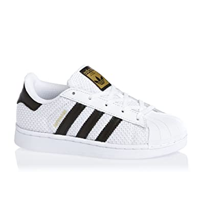 adidas originals superstar weiß / schwarz textil - junior c