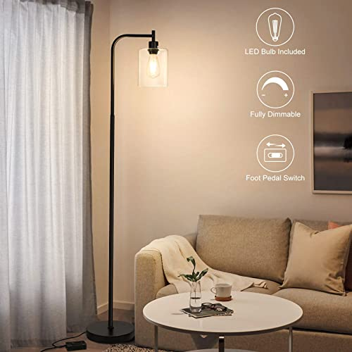 Boncoo Industrial Floor Lamp Fully Dimmable LED Floor Lamp Simple Standing Lamp