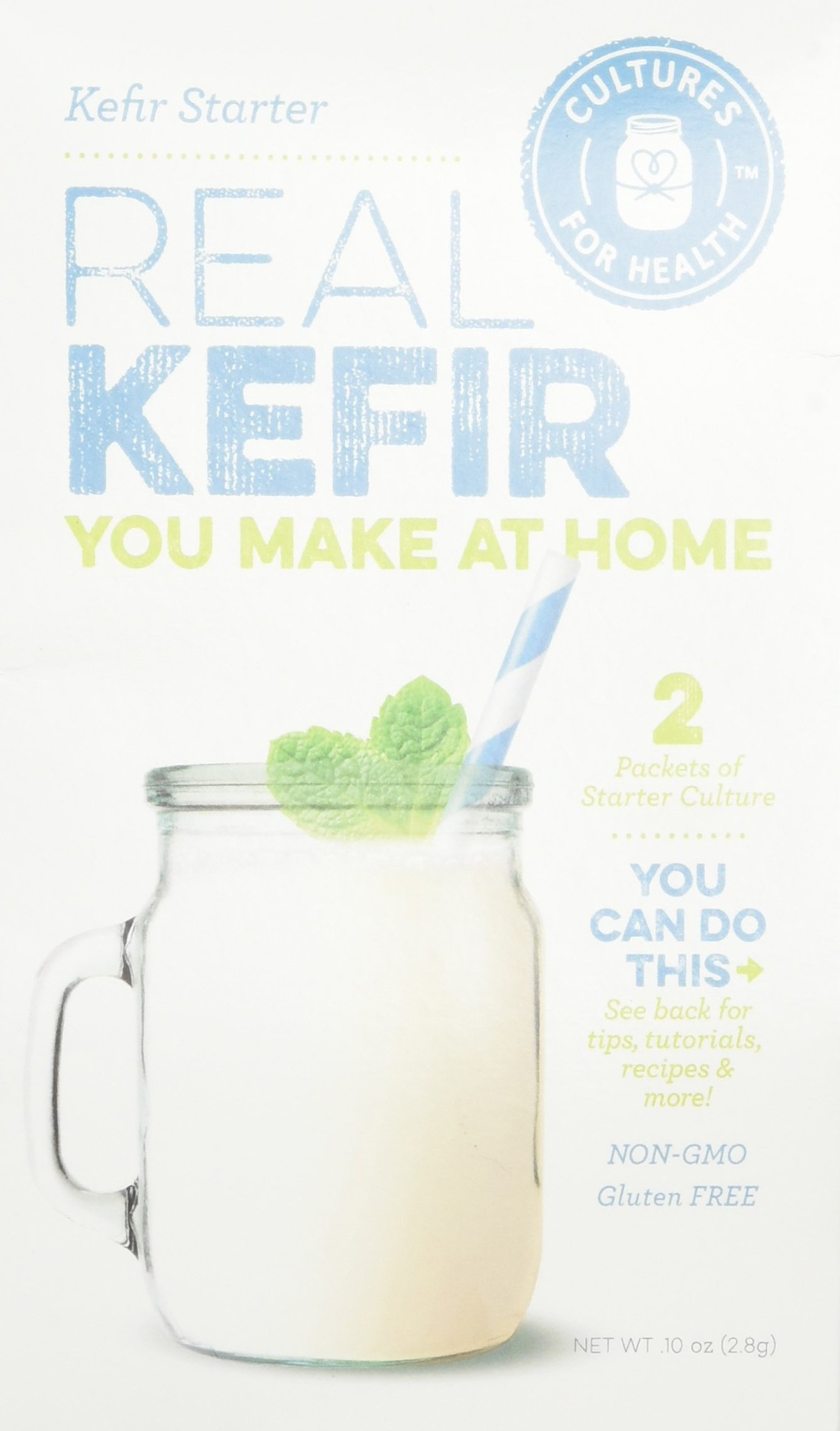 Cultures for Health Kefir Starter Culture, Freeze-Dried Powder, No Daily Maintenance, Includes 2 Packets Of Starter
