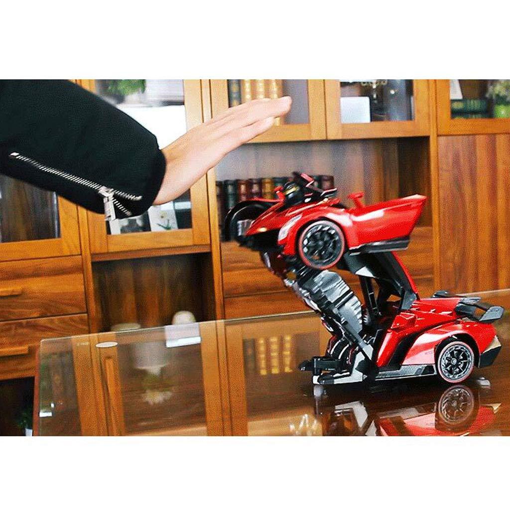 Fernsteuerungsroboter, der der der RC Fernsteuerungsroboter verwandelt, wandeln Auto-Roboter-Spielzeug-Elektroauto-Modell mit Fernbedienung (Farbe : ROT) d44b4c