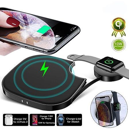 Xflelectronic 10W Wireless Charging Pad 3 en 1 Qi Cargador ...