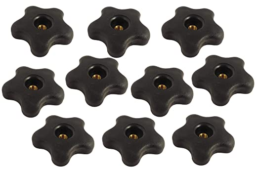 """3//8/"""" X 16 tpi  Knobs with Female Threads 4 Pieces"""