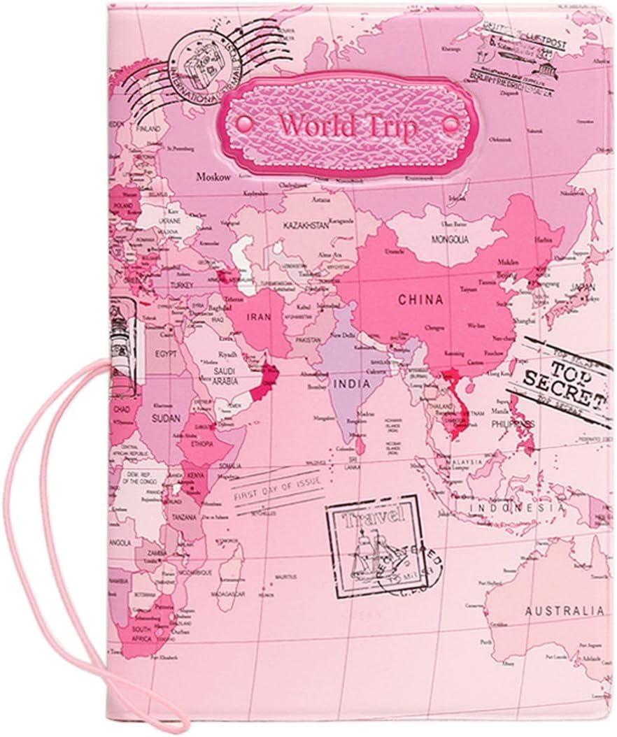 Portefeuille Passeport Pochette Organisateur de Voyage pour les familles nombreuses ou Voyageur avec les Passeport,Carte,Billets,Papiers,White Pineapple Flamingo