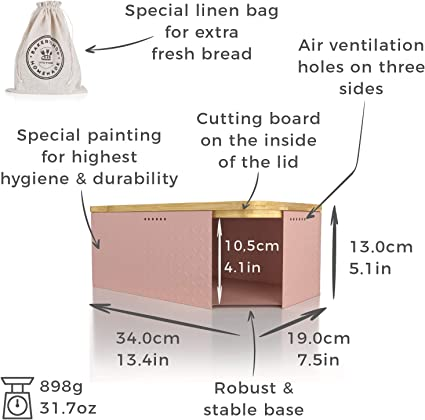 Panera Crumb I Fiambrera con Bolsa para el Pan incluida para un frescor Especialmente Duradero Lars NYS/ØM