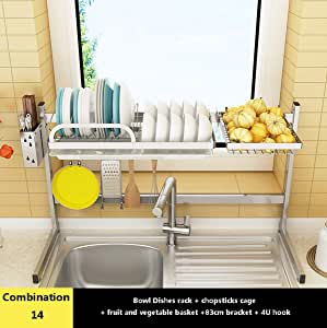 Amazon.com: Kitchen Dish Drain Rack, 304 Stainless Steel