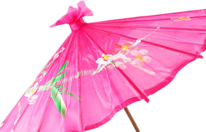 58cm diameter Small Chinese//Japanese Floral Parasol Geisha Umbrella