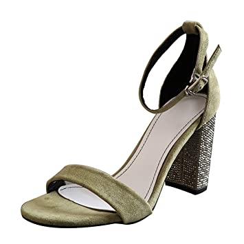 623d02bc53308 GTVERNH Women s shoes fashion Rough Sandals Female Summer Wild Diamond Bag  With A Word