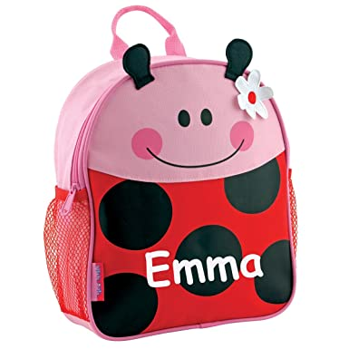 5d688bddb1 Image Unavailable. Image not available for. Color  Stephen Joseph  Personalized Little Girls  Mini Sidekick Ladybug Backpack ...