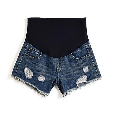 e14951bf6e1 Women s Summer Adjustable Maternity Pregnant Denim Shorts Blue Tag M-US ...