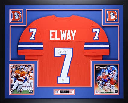 Fanatics Authentic Certified John Elway Denver Broncos Autographed 16 x 20 Throwback Jersey Dropback Photograph