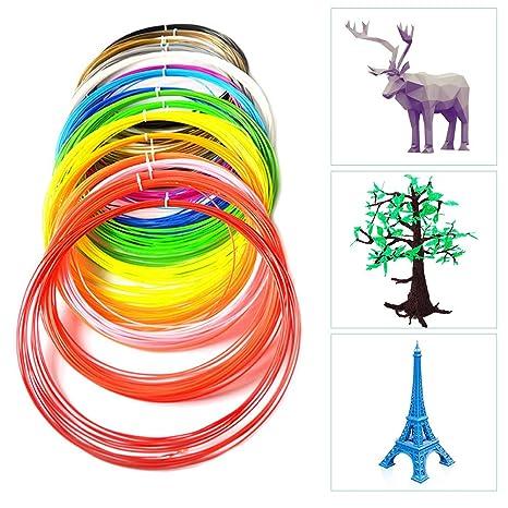 Mitening 3D Pluma Filamento, 18 Colores Impresora PLA 3D ...