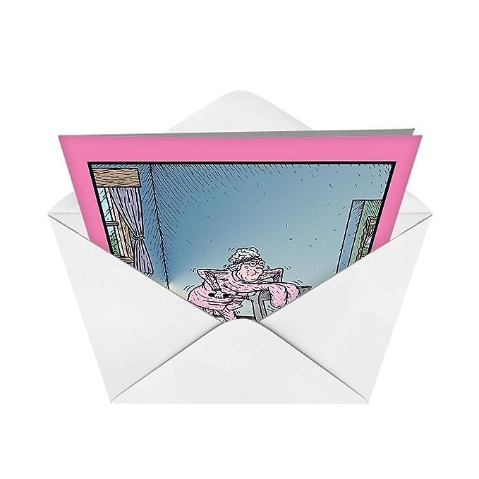 Boobs cinta de correr cumpleaños humor Tarjeta de papel: Amazon.es ...