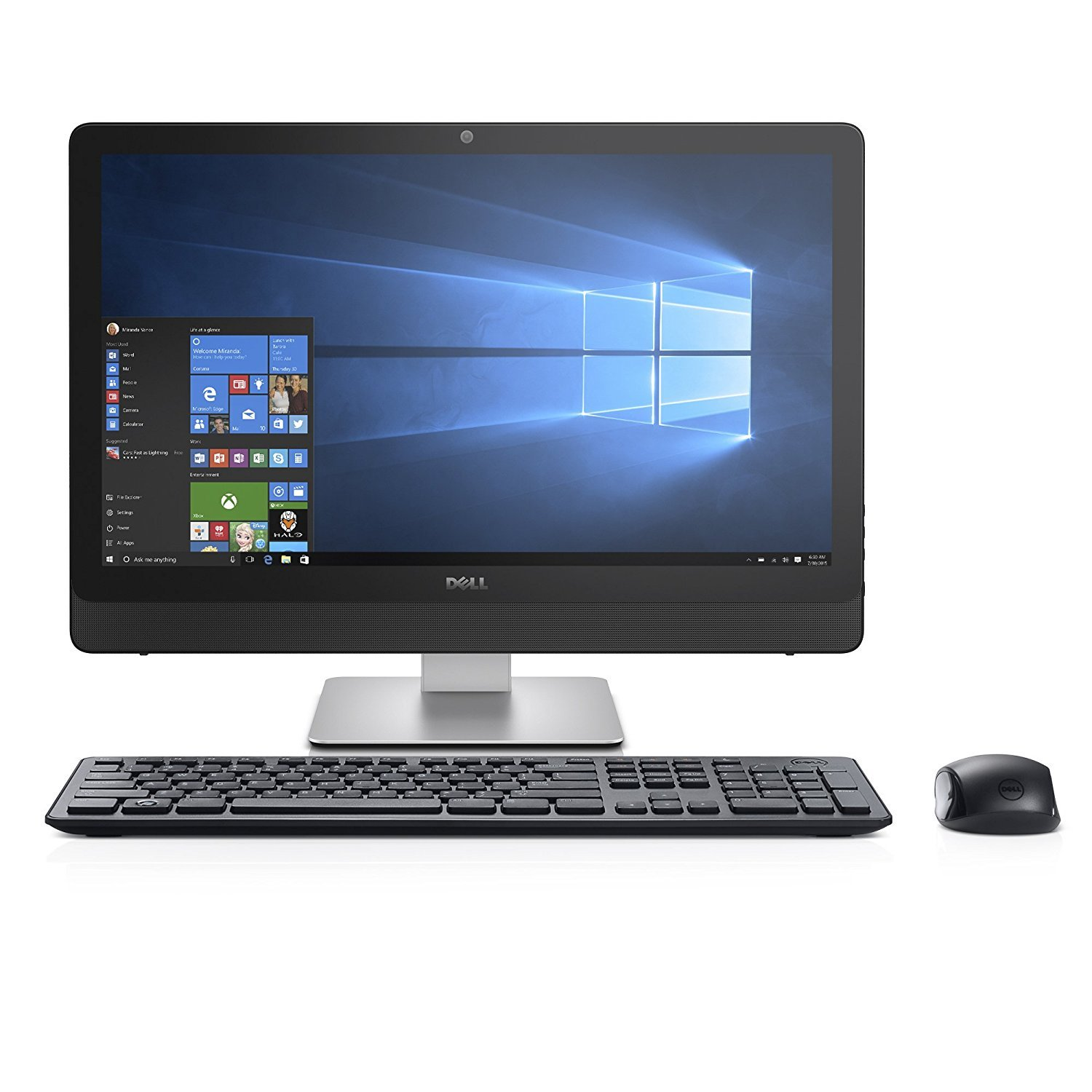 Dell Inspiron LED-Backlit Touch 23.8'' Full HD (1920 x 1080) All-In-One Computer, Intel Core i3-6100U, 8GB RAM, 1TB HDD, USB 3.0, HDMI, WiFi 802.11AC, Bluetooth, DVD RW, HD Webcam, Windows 10