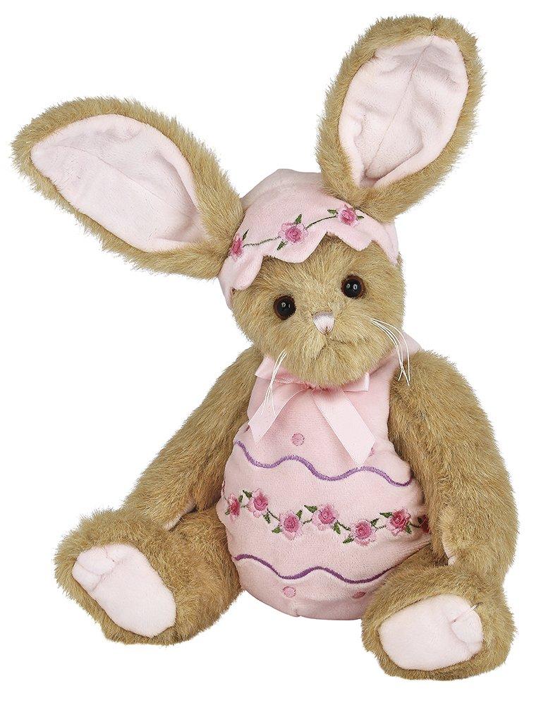 Bearington Izzy A. Egg Easter Dressed Bunny Stuffed Animal Toy, 36cm