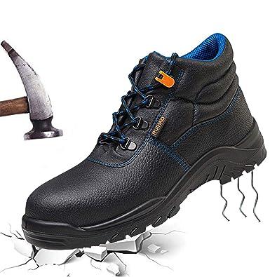 245348ca8d8 Amazon.com   JACKSHIBO Men's Steel Toe Work Boots, Breathable ...