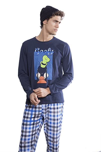 Pijama Back Goofy, Color Marino, Talla S