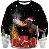AIDEAONE Unisex Ugly Christmas Jumper Sweatshirt Xmas Long Sleeve T-Shirt S-XXL