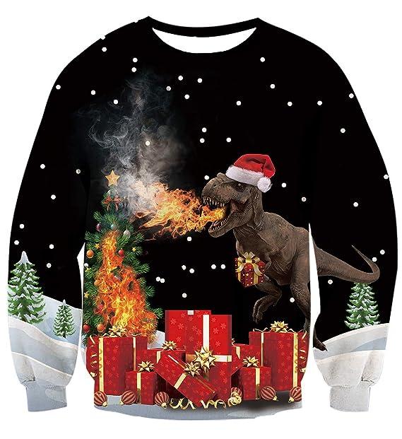 AIDEAONE Unisexo Navidad Sudadera Camiseta de Manga Larga de Navidad S-XXL: Amazon.es: Ropa y accesorios