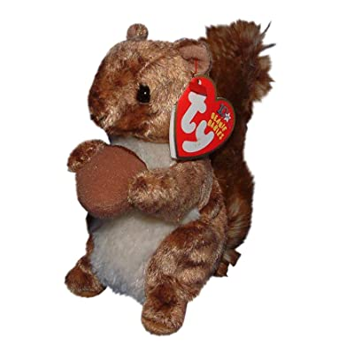 TY NUTTY THE SQUIRREL BEANIE BABY ~ BRAND NEW WITH MINT HANG TAGS AND TAG PROTECTED by Ty: Toys & Games