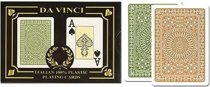 Bridge Size Regular Index Da Vinci Venezia 100/% Plastic Playing Cards